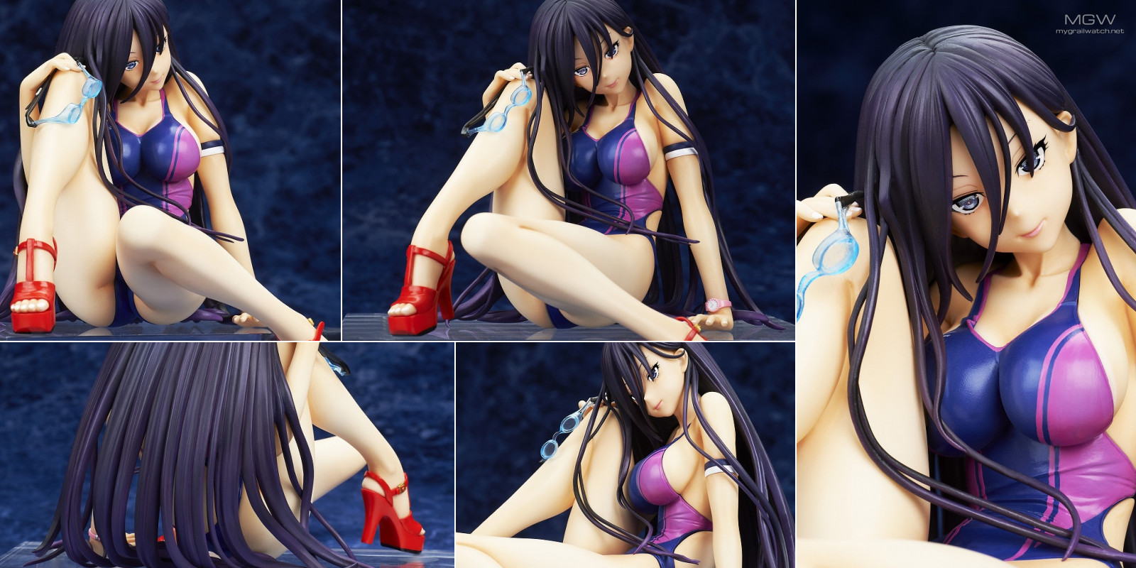 Swimsuit Girl illustration by Happoubi Jin with sculpt by Kaitendoh