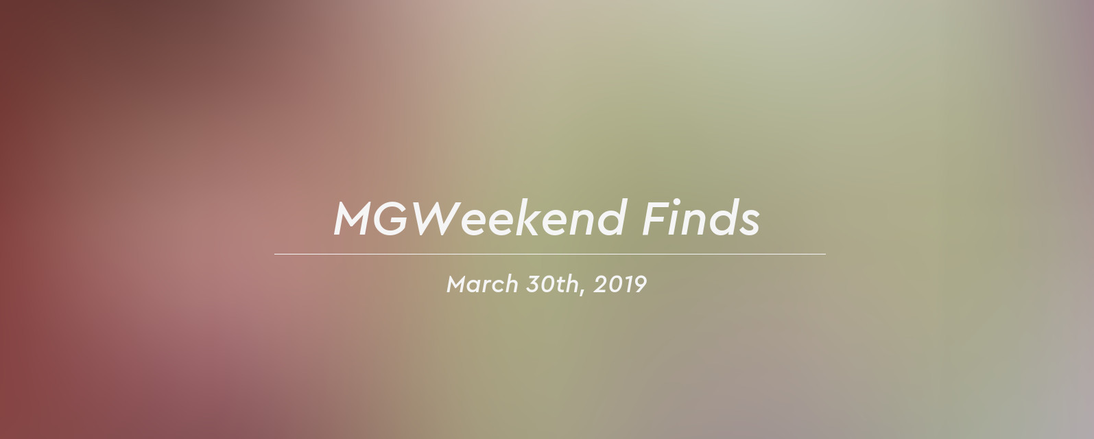 mgw finds 2019 03 30 header
