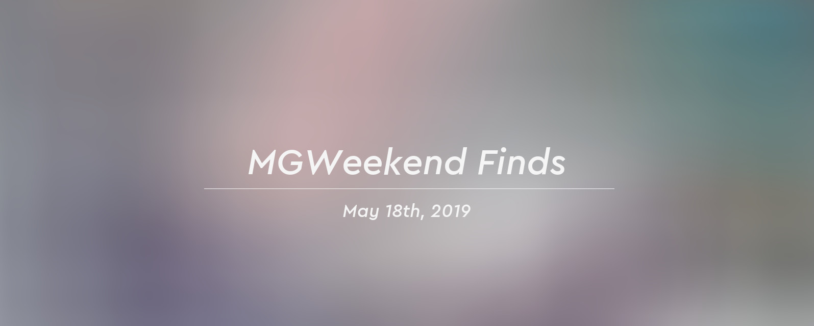 mgw finds 2019 05 18 header