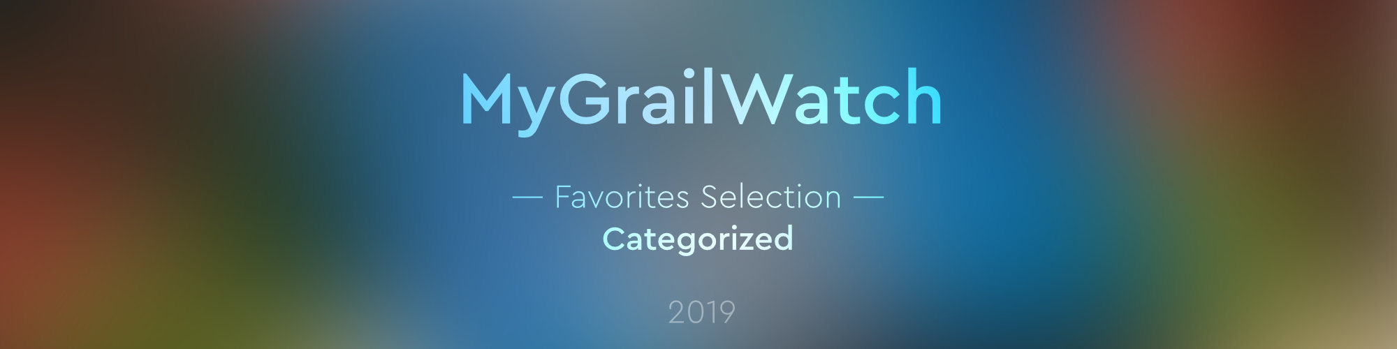 mgw favorites selection categorized 2019