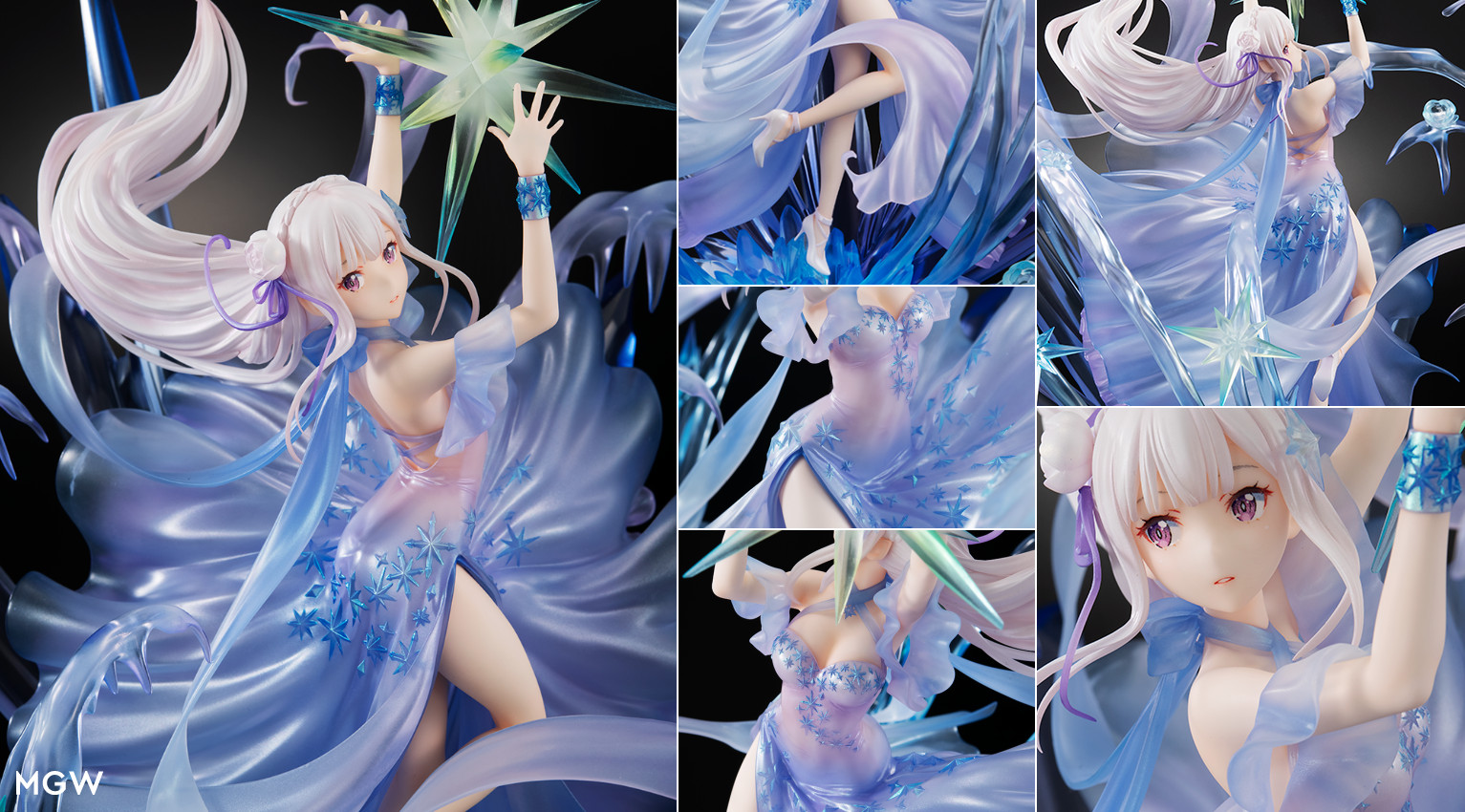 Emilia Crystal Dress by SHIBUYA SCRAMBLE FIGURE from ReZERO Starting Life in Another World