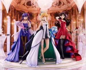 Saber, Rin Tohsaka and Sakura Matou 15th Celebration Dress Ver. Premium Box by Good Smile Company from Fate/stay night 1
