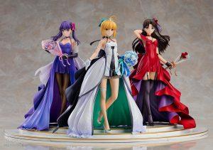 Saber, Rin Tohsaka and Sakura Matou 15th Celebration Dress Ver. Premium Box by Good Smile Company from Fate/stay night 2