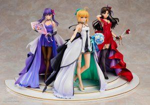 Saber, Rin Tohsaka and Sakura Matou 15th Celebration Dress Ver. Premium Box by Good Smile Company from Fate/stay night 3
