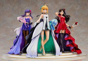 Saber, Rin Tohsaka and Sakura Matou 15th Celebration Dress Ver. Premium Box by Good Smile Company from Fate/stay night 4