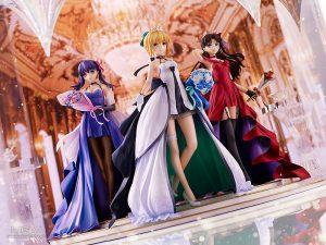 Saber, Rin Tohsaka and Sakura Matou 15th Celebration Dress Ver. Premium Box by Good Smile Company from Fate/stay night 5