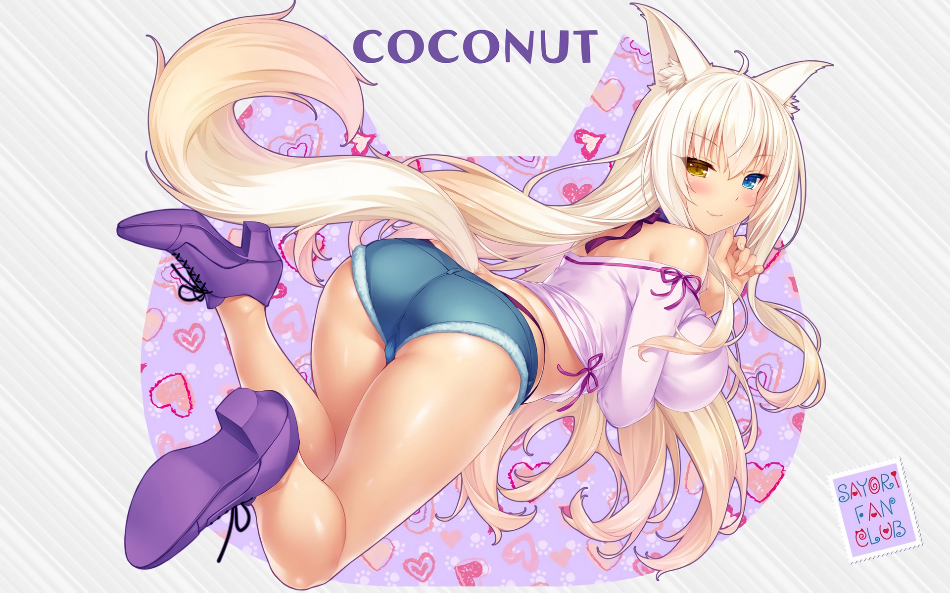 Coconut illustration by Sayori with Comfortable Denim by Hakoiri Musume from NekoPara 14