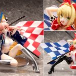 Nero Claudius & Tamamo no Mae TYPE-MOON Racing ver. by plusone & STRONGER from Fate/EXTRA MyGrailWatch Anime Figure Pre-order Guide