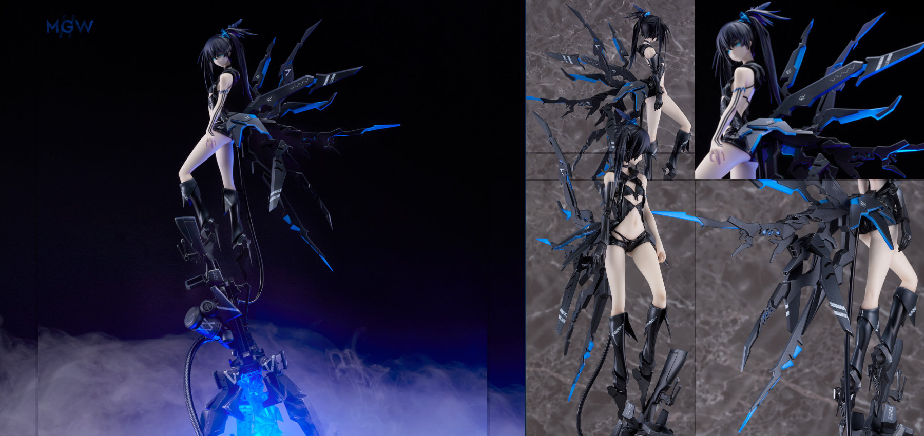 BLACK ROCK SHOOTER Black Rock Shooter inexhaustible Ver. by Good Smile Company MyGrailWatch Anime Figure Guide