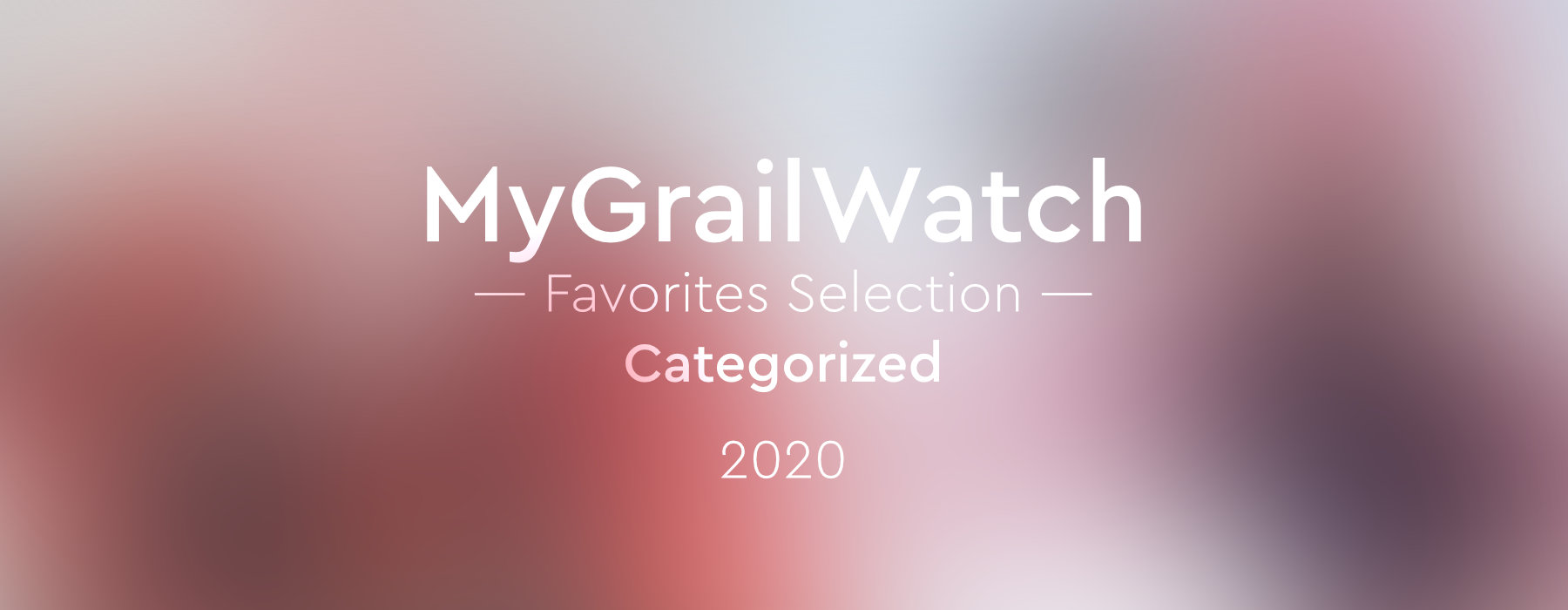 MGW Favorites Selection 2020 Categorized