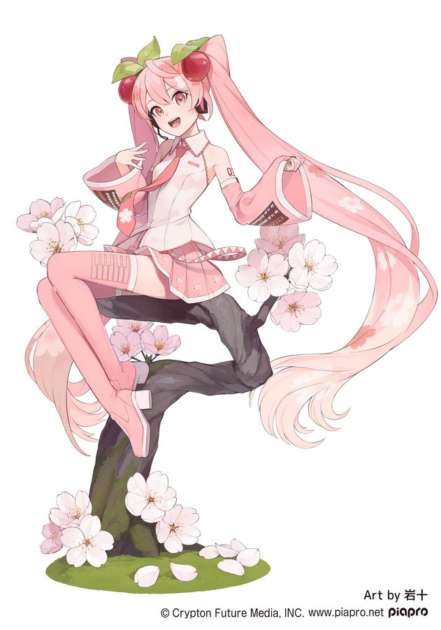 Sakura Miku Sakura Fairy ver. original illustration by Iwato