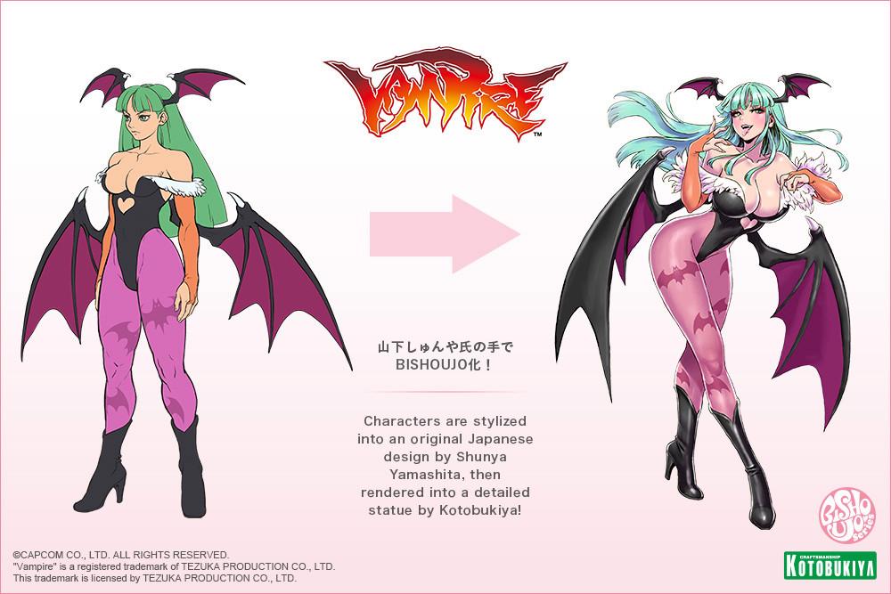 DARKSTALKERS Vampire BISHOUJO Morrigan by Kotobukiya 16 MyGrailWatch Anime Figure Guide